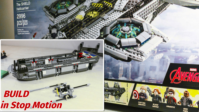 LEGO SHIELD Helicarrier Build 76042 Marvel Avengers Stop Motion.