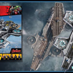 The SHIELD Helicarrier 76042 film size compared