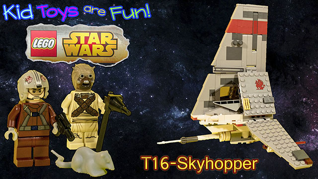 LEGO Star Wars T-16 Skyhopper 75081 Review and Play