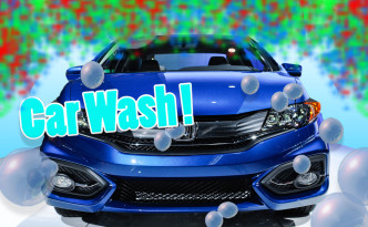 KTAF car wash with blue honda civic
