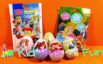 Spongebob and my little pony, kinder surprises