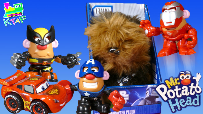 GIANT Egg Potato Head Iron Man Wolverine Captain America Spider-Man Chewbacca Star-Wars Disney Cars