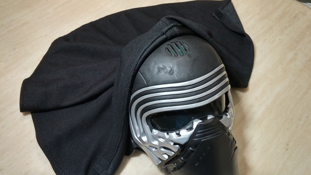 Kylo Ren Mask - Showing speaker normally covered by the hood.