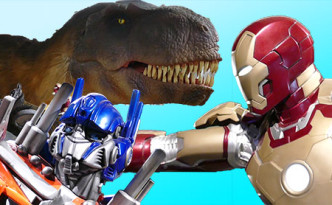 Dinosaur Iron Man Transformer
